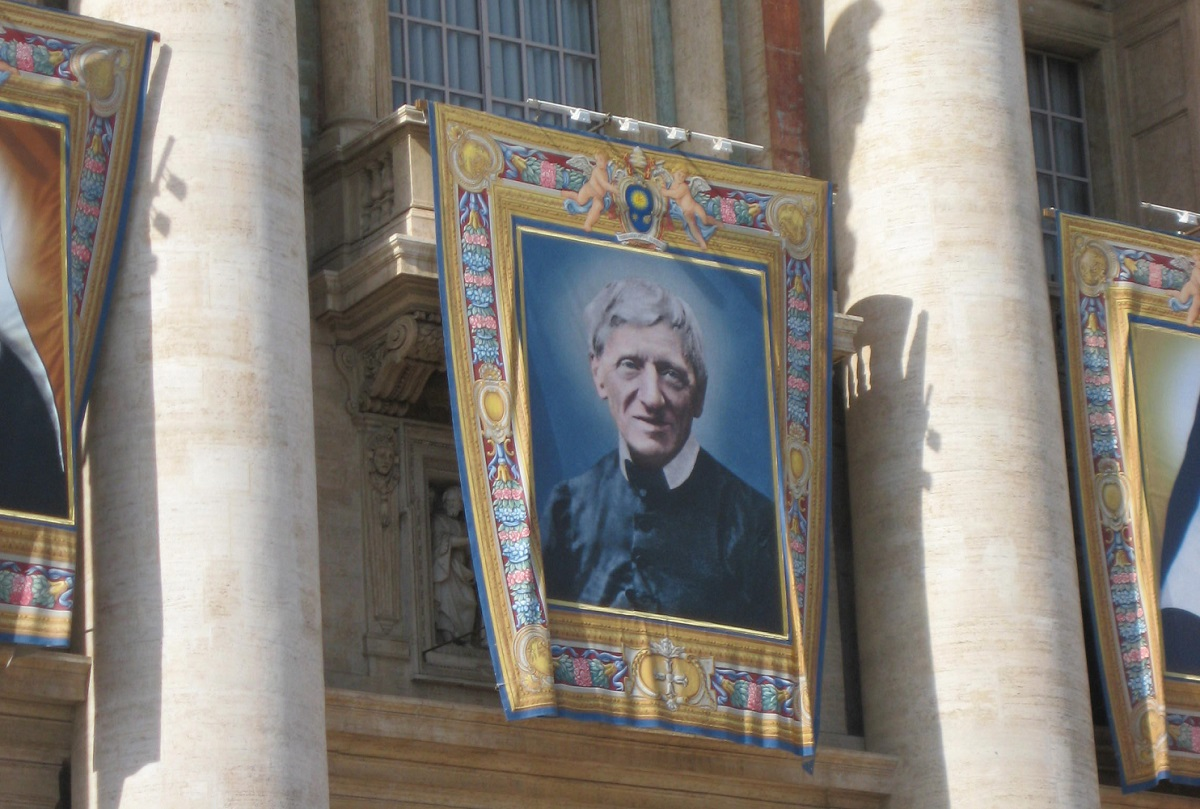 Newman was canonised with four other Blessed